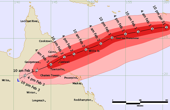 Cyclone Yasi – A Category 5 Cyclone -the Largest Cyclone In Queensland's History