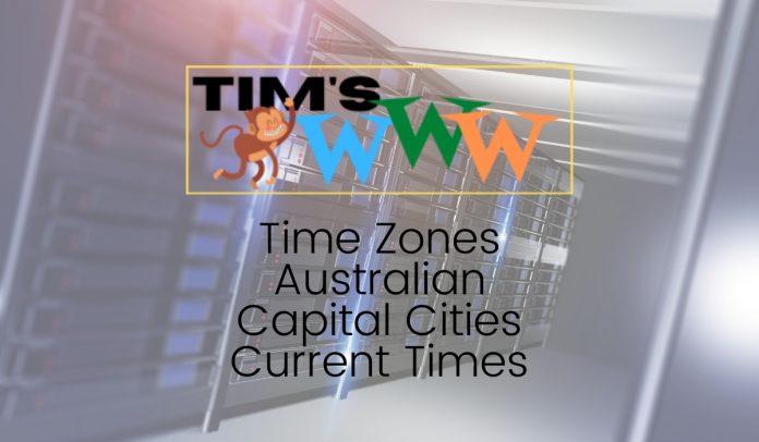 australian capital cities current times