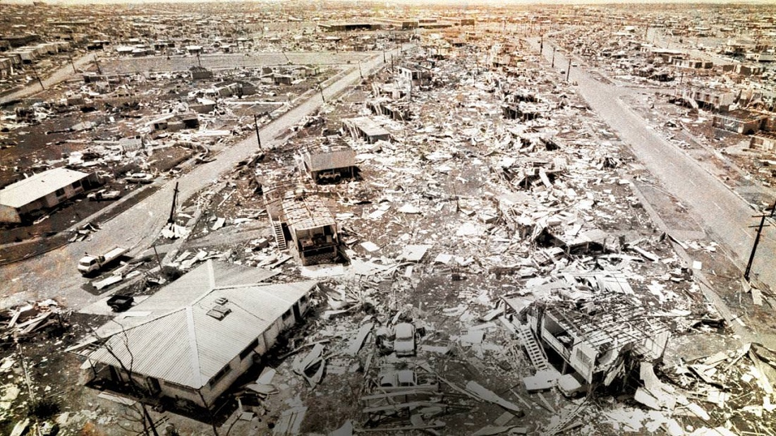 Cyclone damage and aftermath