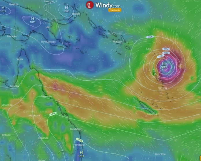 First Cyclone to Hit Australian Waters May Develop