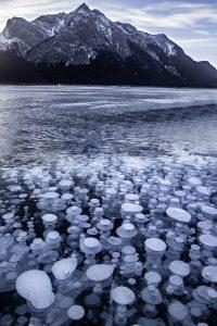 Frozen bubbles lake canada