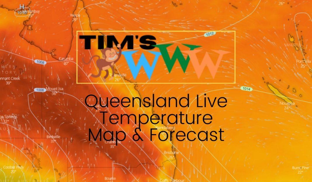 queensland live temperature map forecast