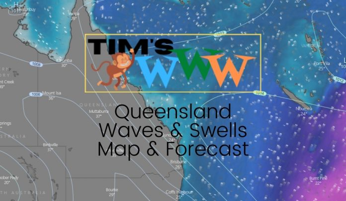 queensland waves swells map forecast