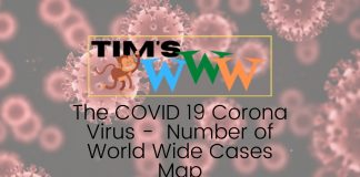 the covid corona virus – number of world wide cases map