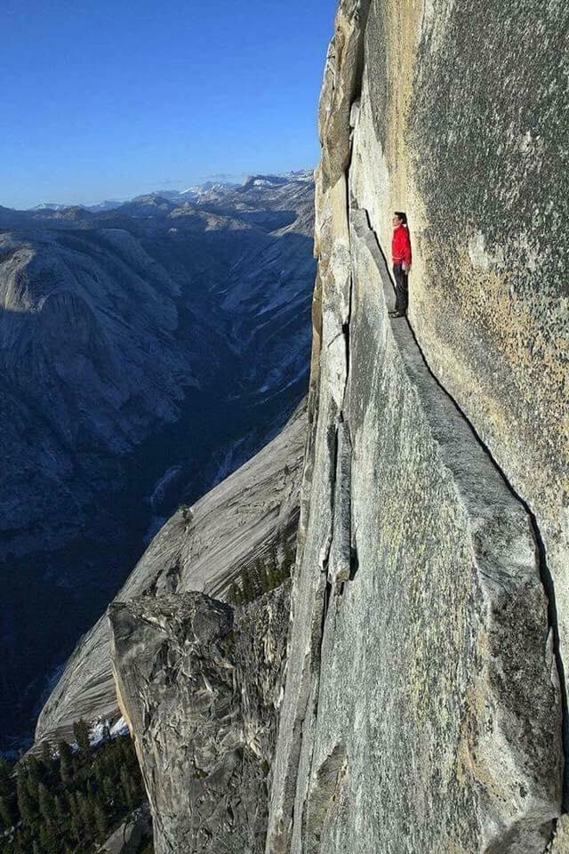 the thank god ledge yosemite national park