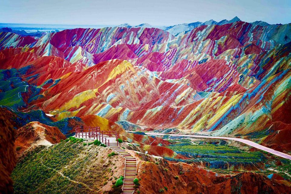 rainbow mountains of chinas zhangye danxia national geologic park
