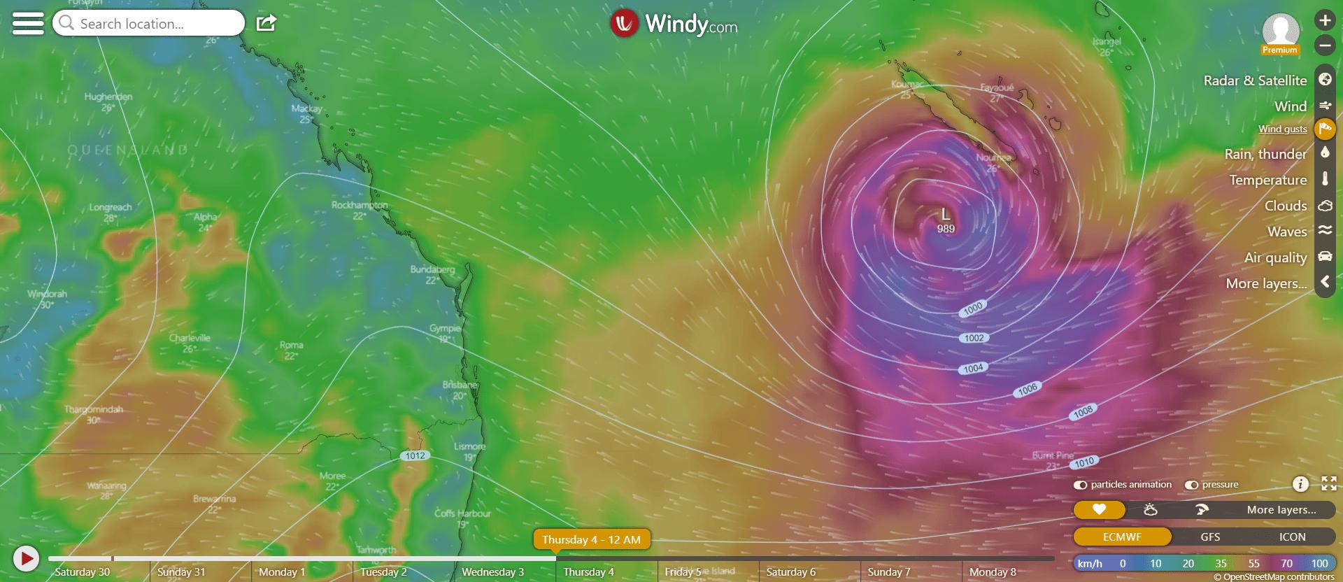 weather forecast days qld brisbane sunshine coast gold coast