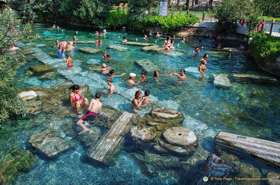 antique pool close to the temple of apollo