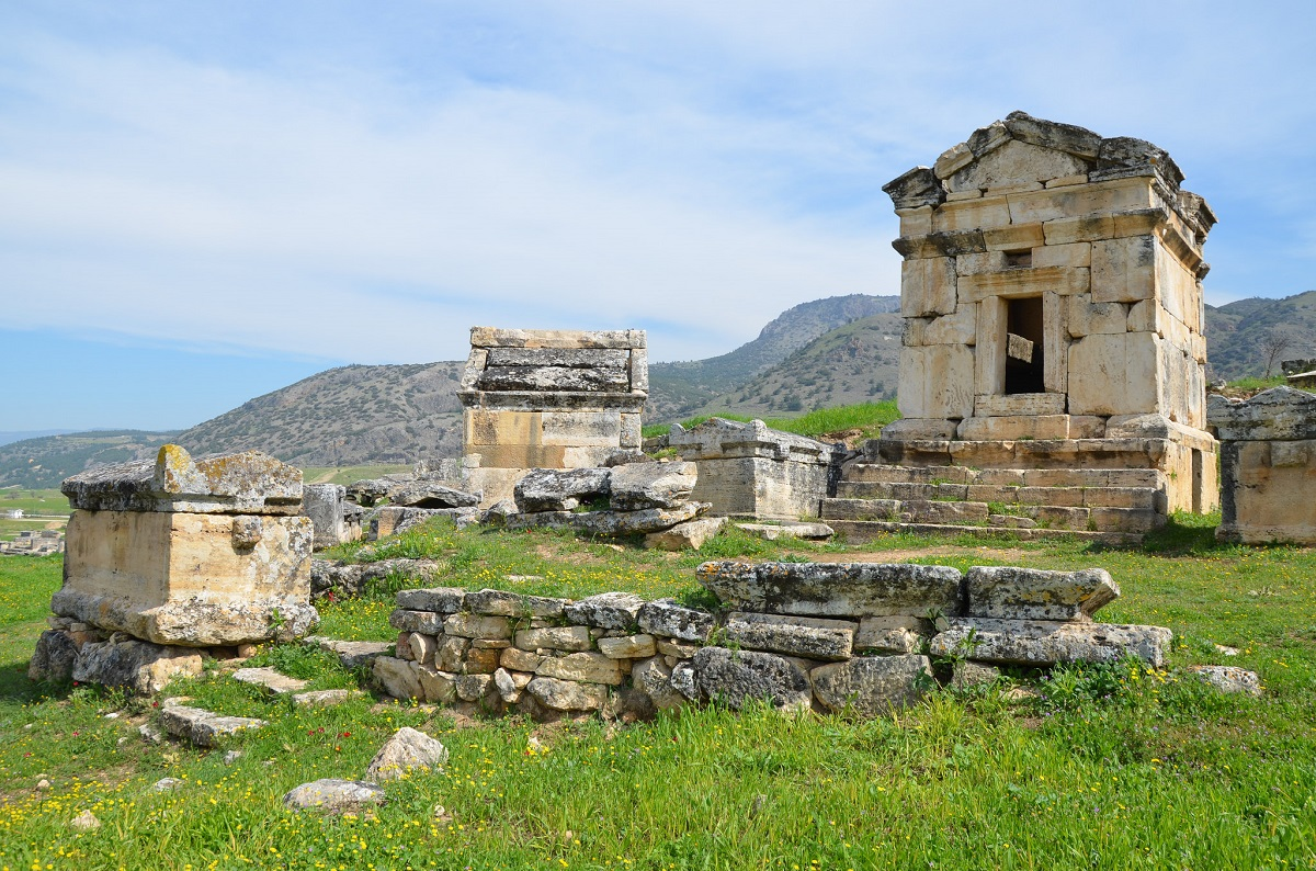necropolis in the northerly part of the ruins hierapolis