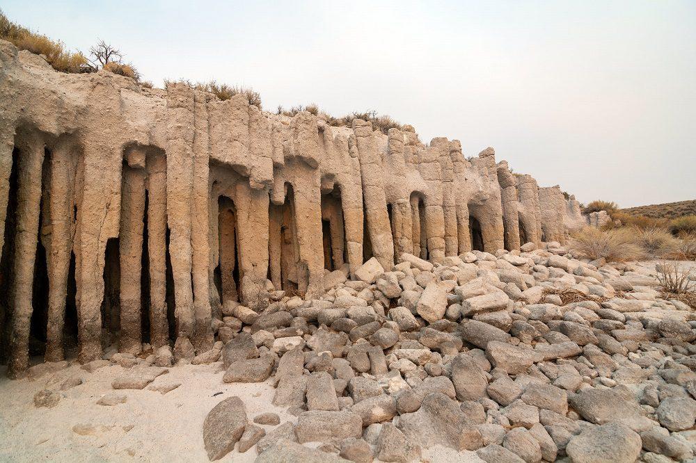 Crowley lake stone columns california