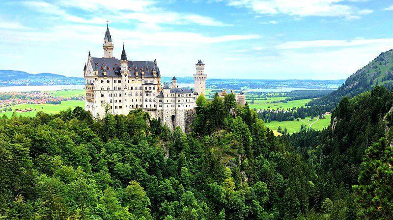 Neuschwanstein castle – a 19th century german castle