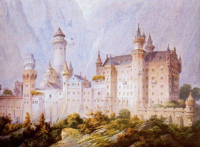 Neuschwanstein project drawing (christian jank 1869)