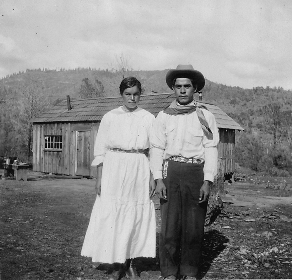 Photograph with text of a mono couple living near northfork california this is from a survey report of fresno and nara cropped